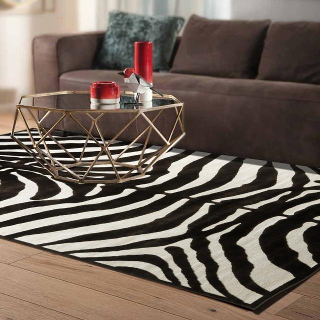 【范登伯格】卡斯☆頂級立體雕花絲質地毯-斑馬紋(150x230cm)