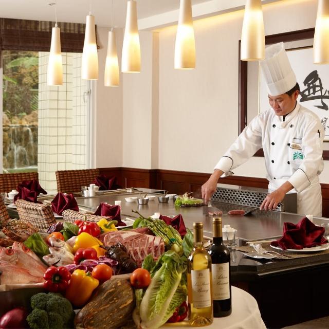 【電子票券】台東知本老爺酒店酋長鐵板燒晚餐套餐每人1198(1套2張1人用 假日不加價)