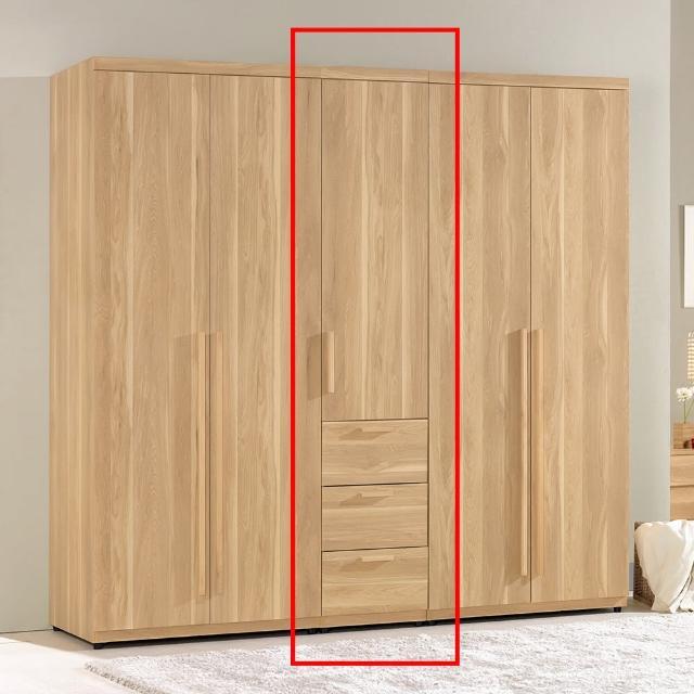 【H&D】波里斯1.3尺三抽衣櫥