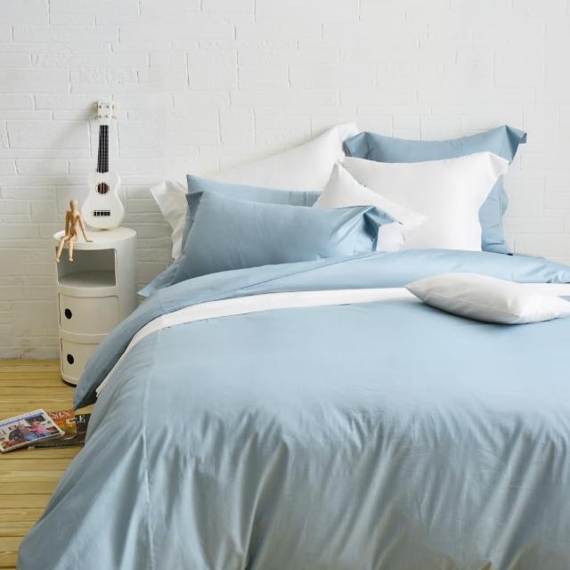 【Cozy inn】簡單純色-200織精梳棉三件式被套床包組-單人(多款顏色任選)