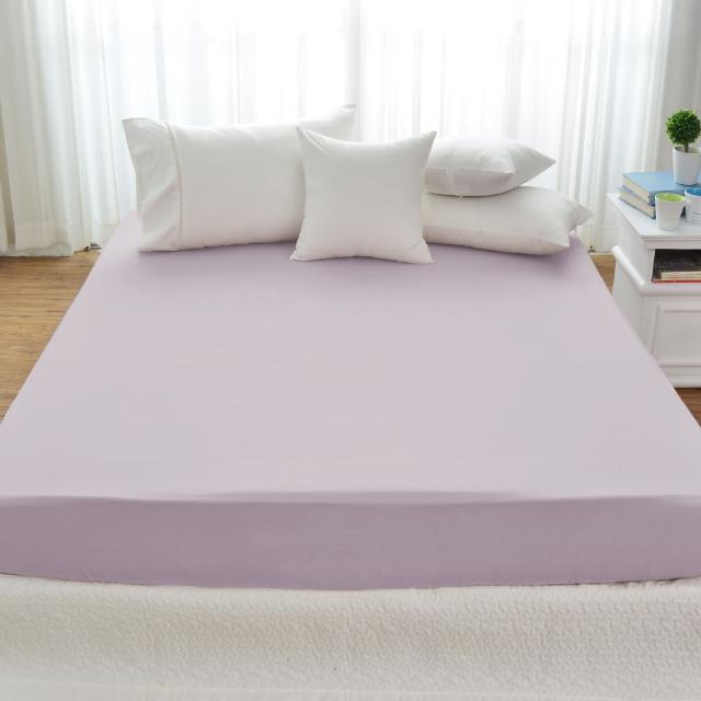 【Cozy inn】簡單純色-200織精梳棉床包-特大(多款顏色任選)