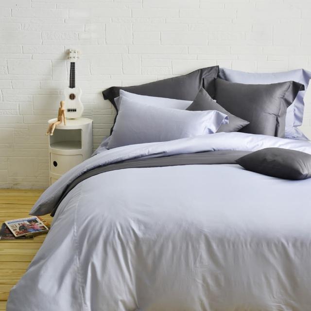 【Cozy inn】極致純色-300織精梳棉四件式被套床包組-特大(多款顏色任選)