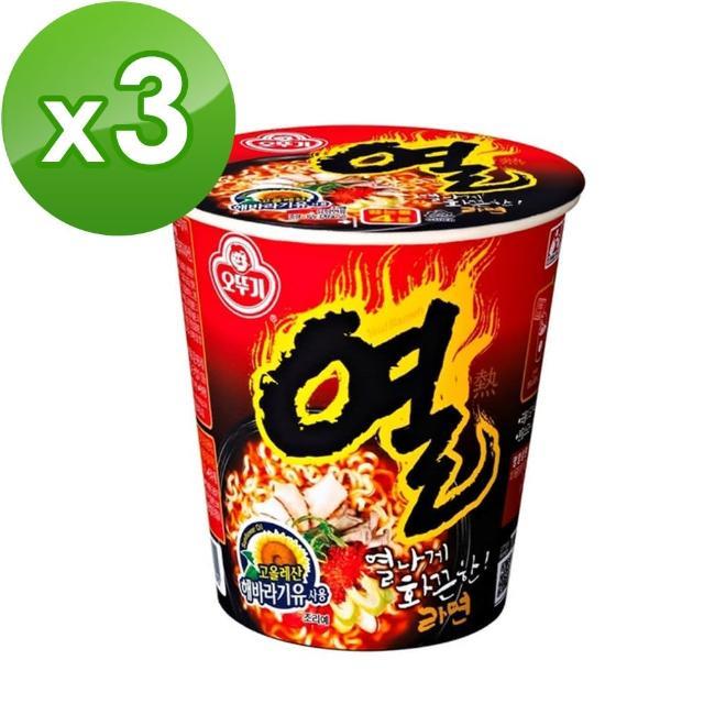 【韓國不倒翁OTTOGI】辛辣杯麵(62g)x3入