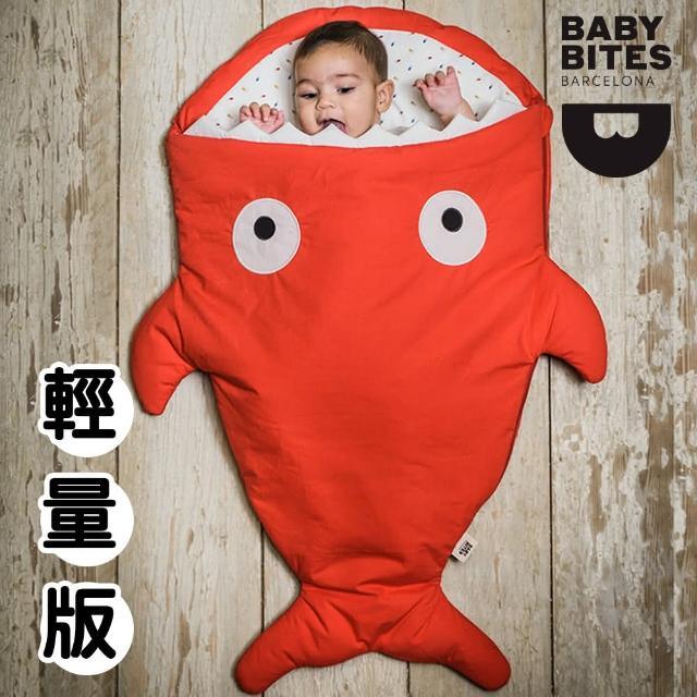 【西班牙鯊魚咬一口 BabyBites 西班牙製 100% 純棉手工嬰兒睡袋 防踢被 包巾】喜氣紅(輕量版)