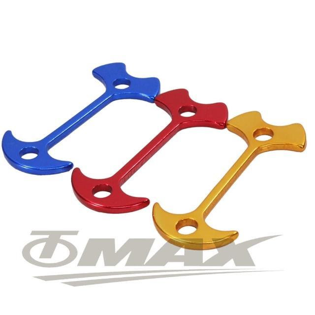 【omax】鋁合金魚骨地釘-加長版-8入(顏色隨機-12H)