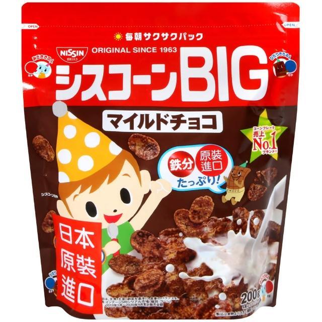 【日清Cisco】BIG濃醇巧克力早餐玉米片(220g)