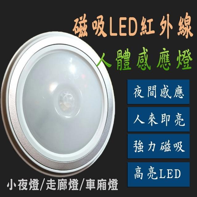 【just-plat】磁吸LED紅外線人體節能感應燈(感應燈 小夜燈  磁吸 省電)
