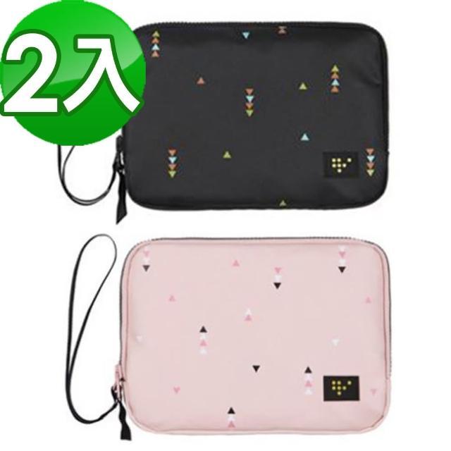 【JIDA】時尚清新大容量可手挽證件護照收納包(二入組)