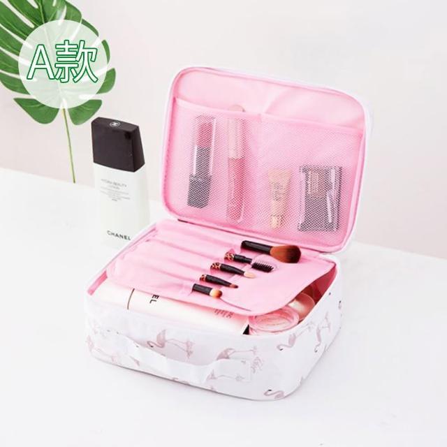 【JIDA】300D小清新加厚防震防潑水旅行化妝收納包-A款(4色)