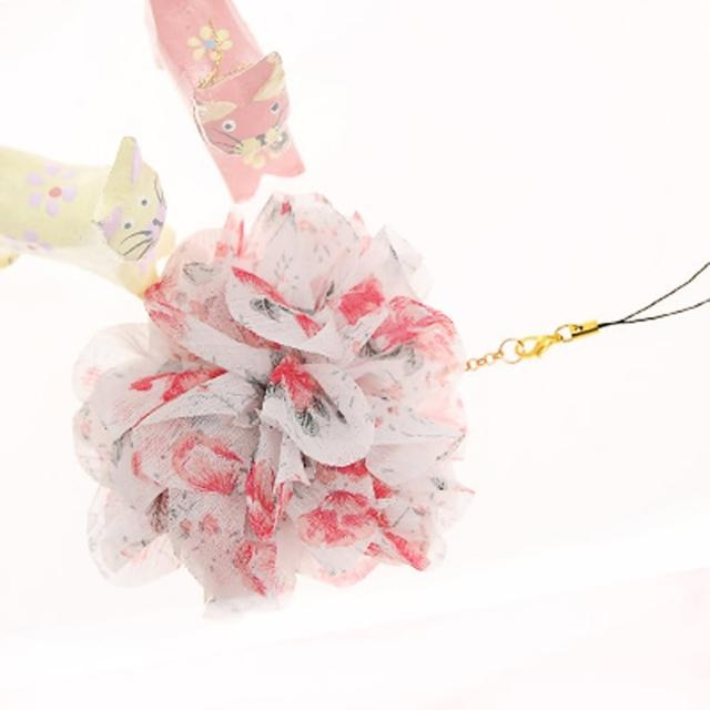 【Lady c.c.】春漾輕襲浪漫花園手機吊飾(粉)