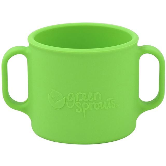 【美國green sprouts】寶寶矽膠防滑學習杯_草綠(GS144300-2)