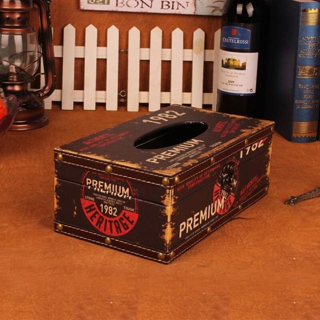 【PUSH! 居家生活用品】復古1982 紙巾盒 面紙盒 衛生紙抽取收納盒(I34)