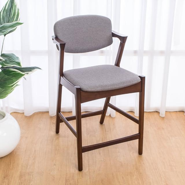 【Bernice】莫理斯實木吧台椅-吧檯椅-高腳椅(矮二入組合)