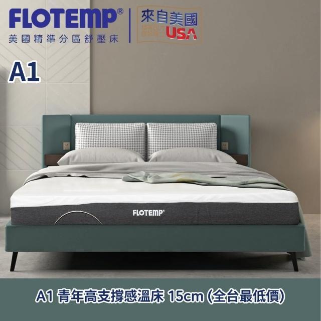 【Flotemp 福樂添】福樂添原創感溫透氣床墊150-185-15CM(白色雙人)