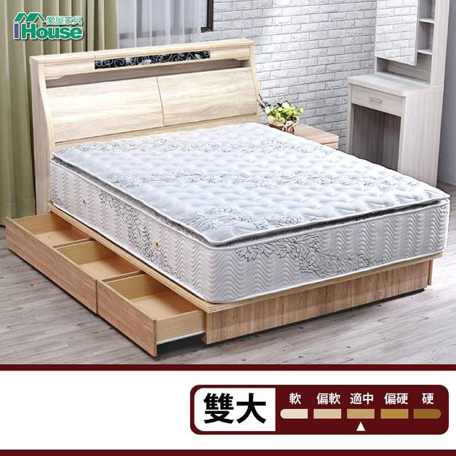 【IHouse】若葉 竹炭泡棉正三線獨立筒床墊(雙大6x6.2尺)