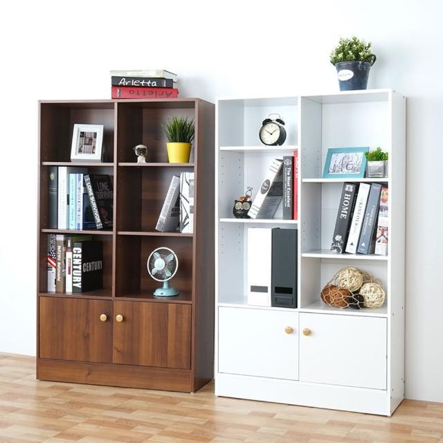 【Homelike】拜爾八格二門書櫃(兩色可選)