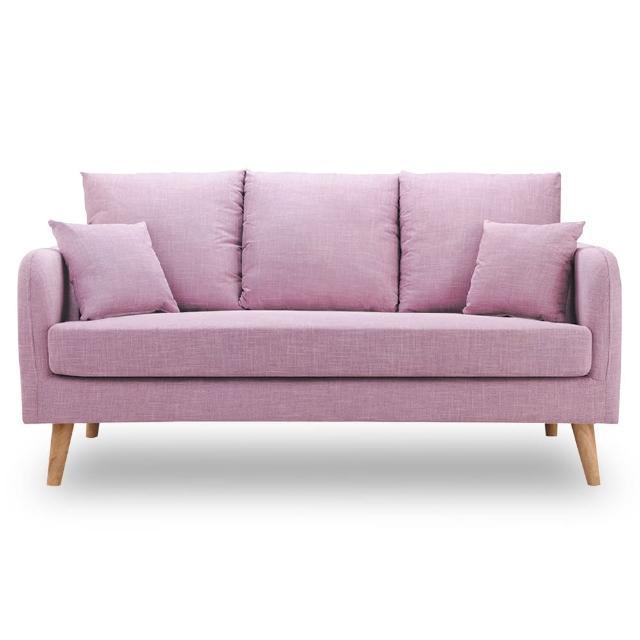 【時尚屋】卡洛兒三人座粉紫色沙發 MT7-322-8(免組裝 免運費 沙發)