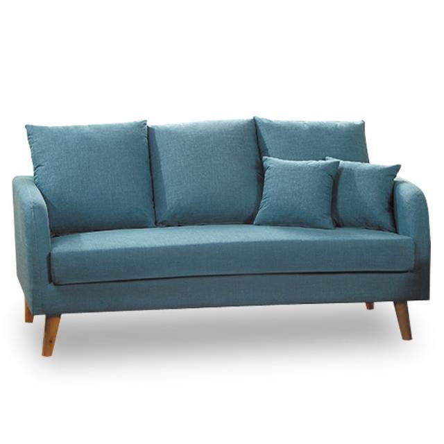 【時尚屋】卡洛兒三人座天空藍色沙發 MT7-322-12(免組裝 免運費 沙發)