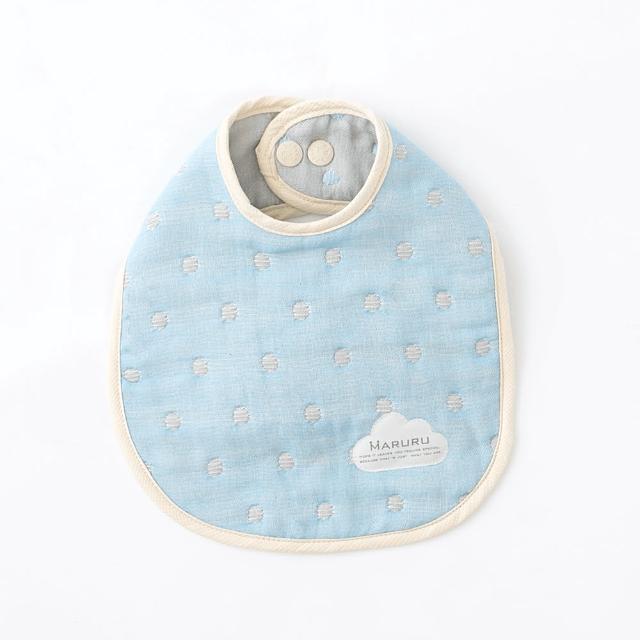 【MARURU】日本六層紗口水圍兜 北歐星空(日本六層紗圍兜-多層紗口水巾)