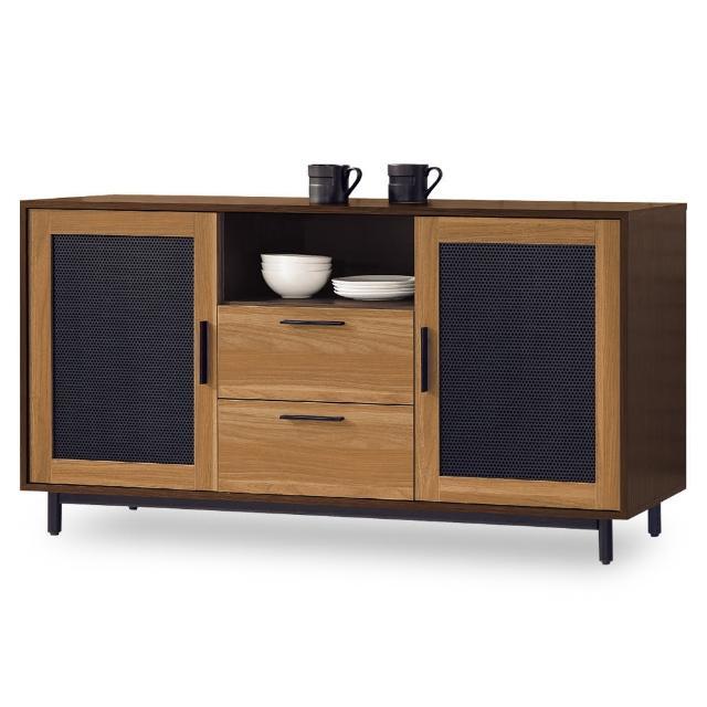 【時尚屋】卡爾頓5尺碗碟櫃 MT7-715-2(免組裝 免運費 碗碟櫃)