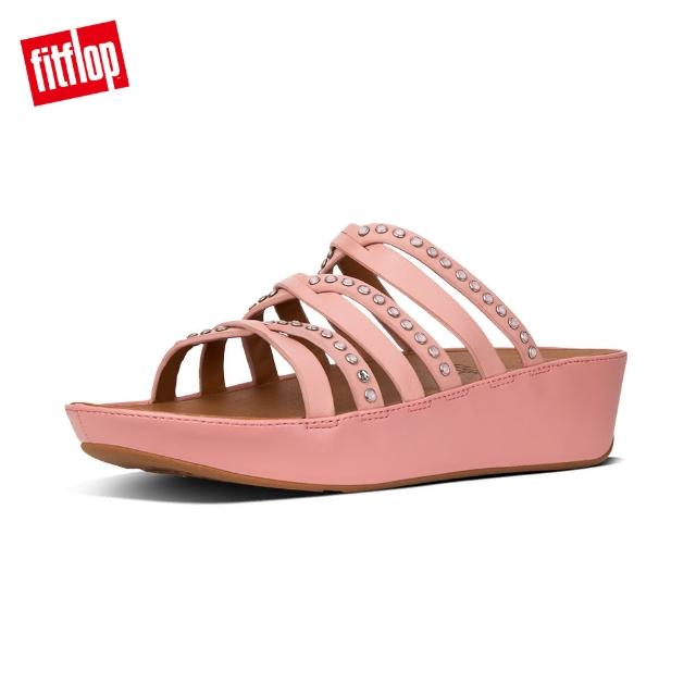 【FitFlop】LINNY SLIDE SANDALS - CRYSTAL(灰粉)