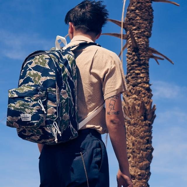 【EASTPAK】Out of office電腦後背包(Camoed Forest)