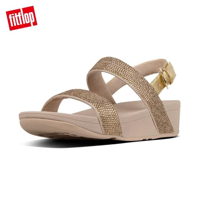 【FitFlop】LOTTIE SHIMMERCRYSTAL BACK-STRAP SANDALS(黃金色)