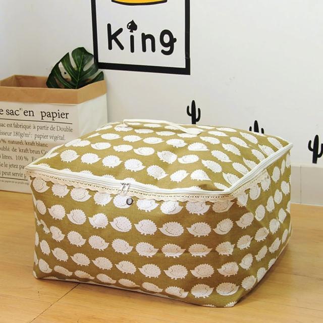 【收納職人】衣物棉被大容量防水防塵袋收納袋50L-綠底小刺蝟/