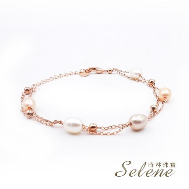 【Selene】簡約時尚珍珠雙圈手鍊(限量設計款)/