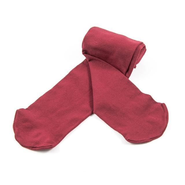 【公主童襪】超細纖維酒紅色兒童褲襪/跳舞褲襪(0-12歲)-