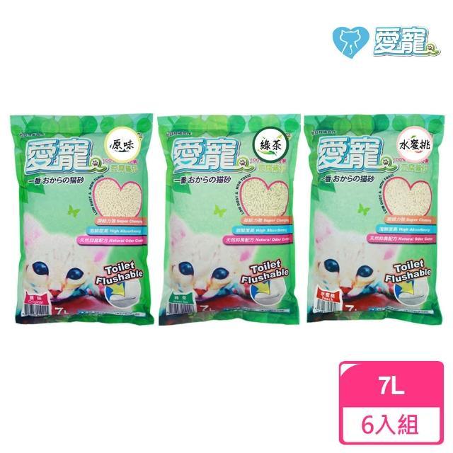 【愛寵】豆腐貓砂7L-6入/