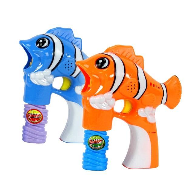 【888ezgo】小丑魚造型連續式電動泡泡槍(有LED燈+音樂)
