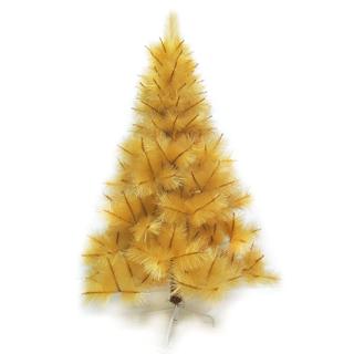 【聖誕樹】台灣製4尺/4呎120cm特級金色松針葉聖誕樹裸樹-不含飾品-不含燈