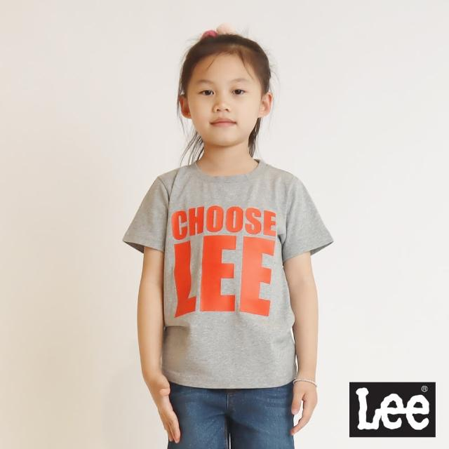 【Lee】CHOOSE 童短袖T恤-大象灰