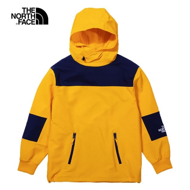 【The North Face】The North Face北面UE男款黃色防潑水連帽上衣|4U6C56P