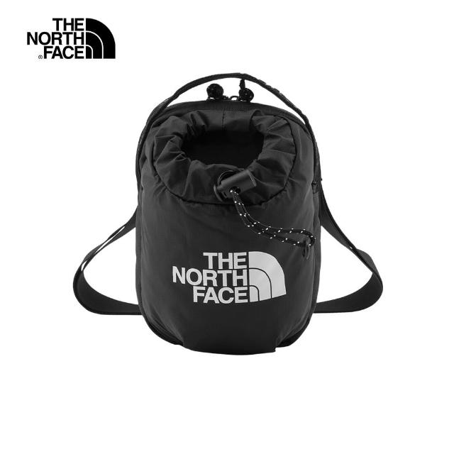 【The North Face】The North Face北面男女款黑色抽繩休閒單肩包|52RYJK3