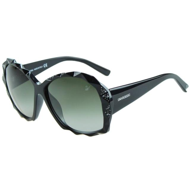 【SWAROVSKI】-時尚太陽眼鏡SW9040(黑色)