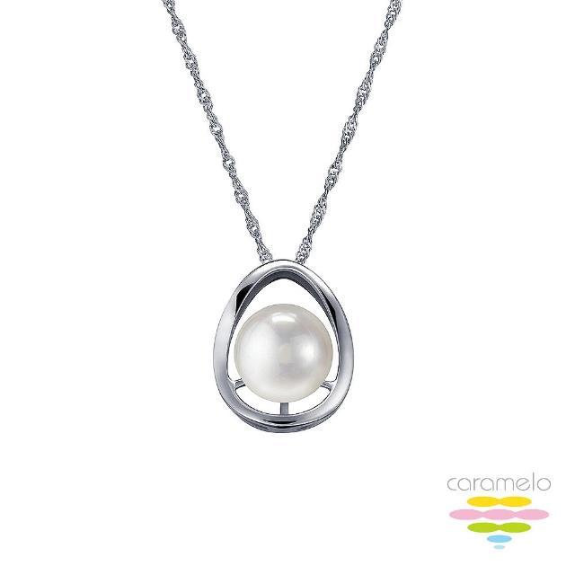 【彩糖鑽工坊】9-10mm 淡水珍珠項鍊(簡愛 系列)
