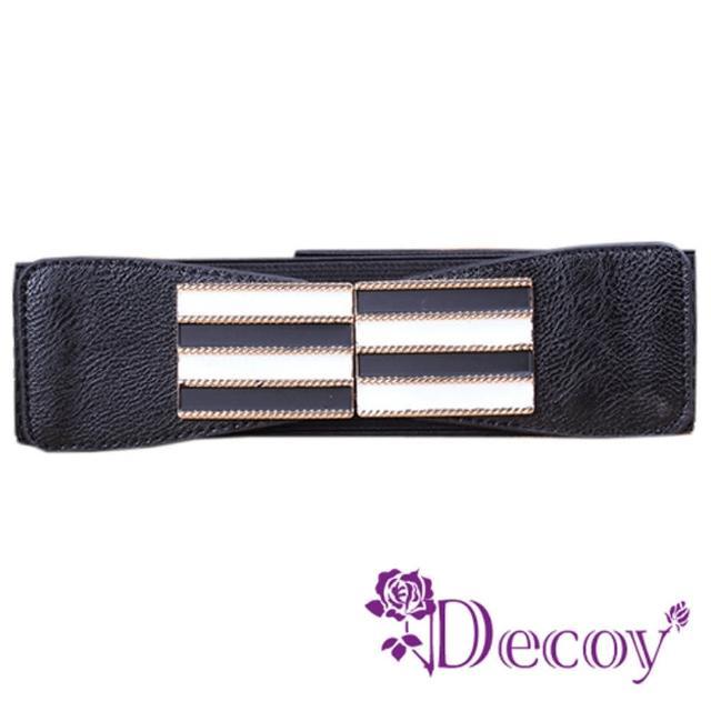 【Decoy】馬賽克牆*寬版彈性腰封/二色可選