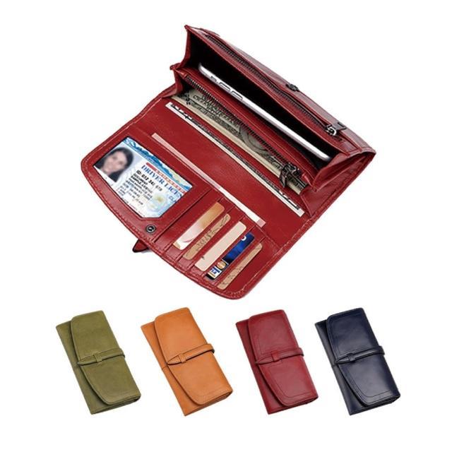【玩皮工坊】真皮頭層牛皮RFID防盜刷女士皮夾皮包錢包長夾女夾LH769(4色可選)