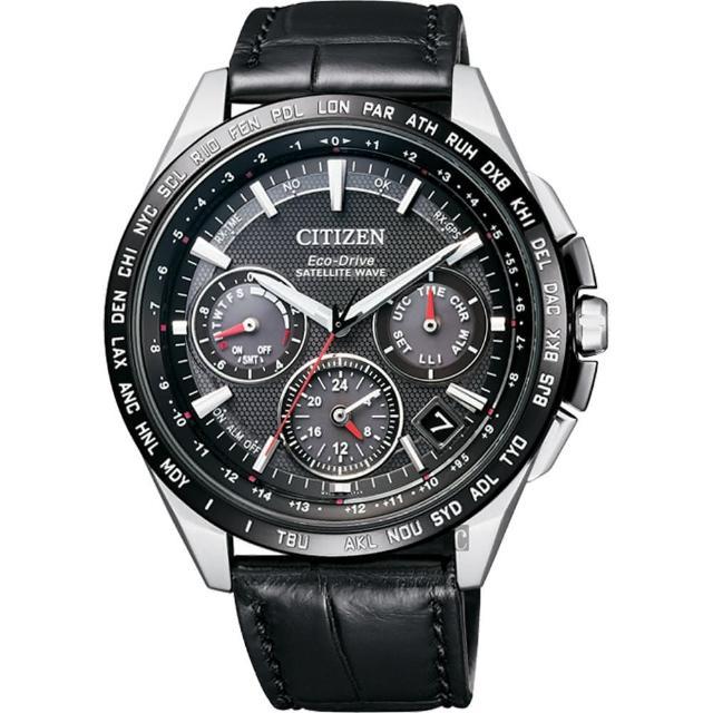 【金城武廣告款 CITIZEN】Eco-Drive 鈦 光動能GPS衛星對時錶-黑/43mm(CC9015-03E)
