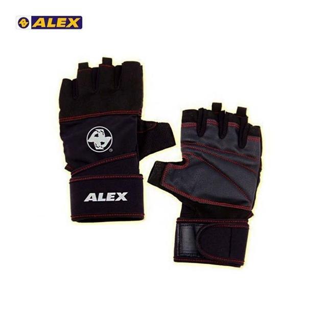 【ALEX】POWER 手套 -自行車 單車 健身 重量訓練 黑(A-38)