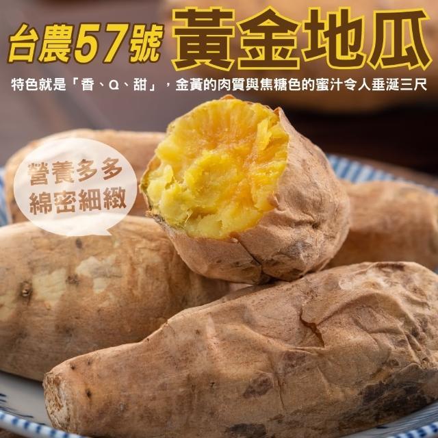 【小農直配】台農57號黃地瓜(平箱裝5斤±10%)