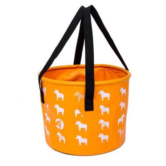 【E.City】可折疊小馬圖案手提置物水桶