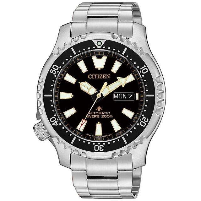 【CITIZEN 星辰】限量黑金河豚艦隊機械潛水錶-黑x金/42mm(NY0090-86E)