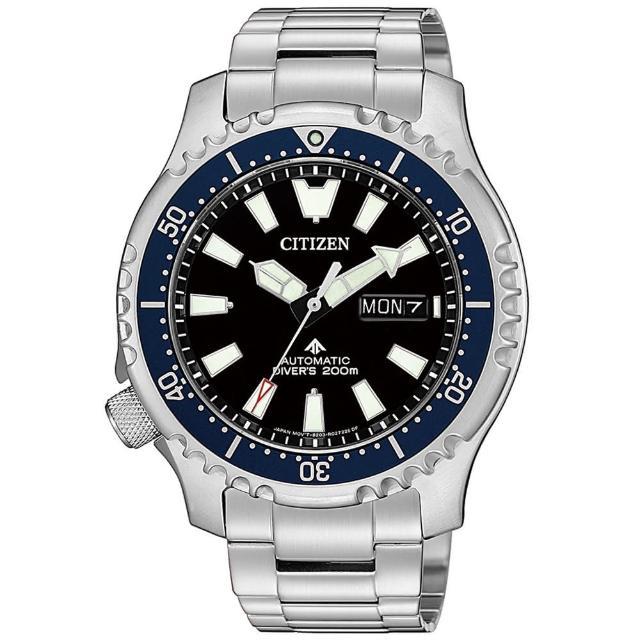 【CITIZEN 星辰】限量河豚艦隊機械潛水錶-藍x黑/42mm(NY0098-84E)