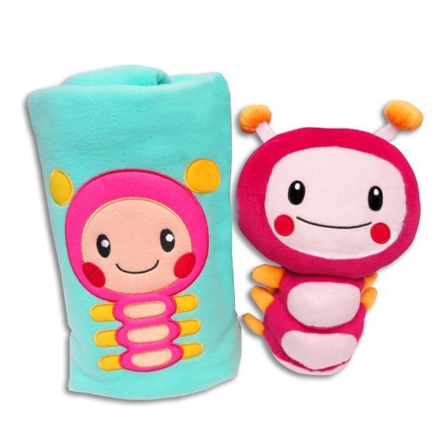 【MOMO親子台】新品特惠組(12吋momo絨毛玩偶+momo造型防塵蹣捲毯)