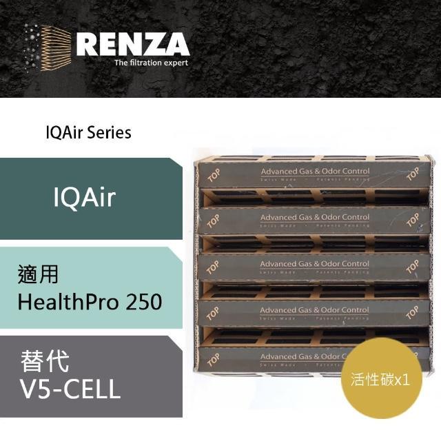 【RENZA】活性碳濾網 適用IQAir 空氣清靜機 HealthPro 250(可替代V5-Cell)