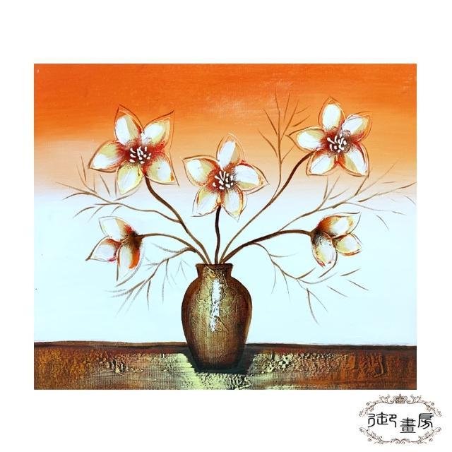 【御畫房】手繪無框油畫-花明柳媚 40x50cm