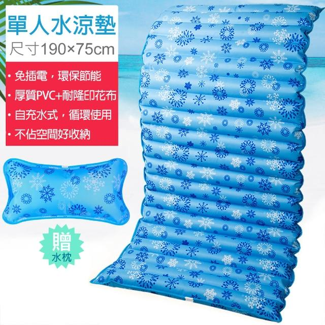 單人 水墊/水床/水涼墊-190X75cm 送水枕/涼枕(可當沙發坐墊 冰枕)